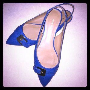 Nine West Royal Blue Flats